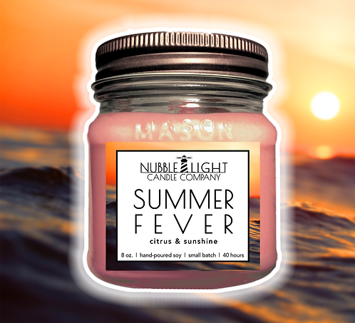 SUMMER FEVER 8oz. Scented Soy Candle
