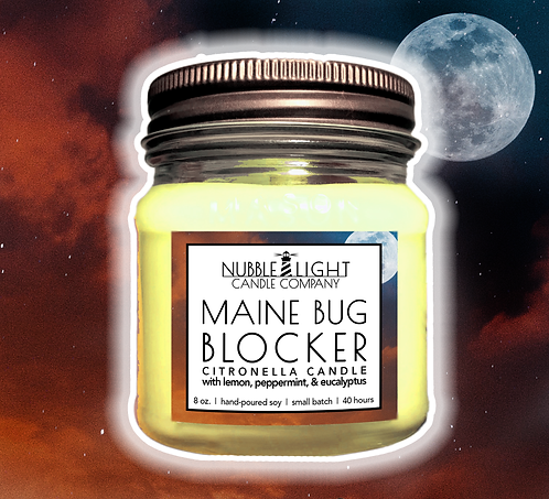 MAINE BUG BLOCKER - CITRONELLA 8oz. Scented Soy Candle