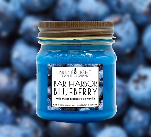 BAR HARBOR BLUEBERRY 8oz. Scented Soy Candle