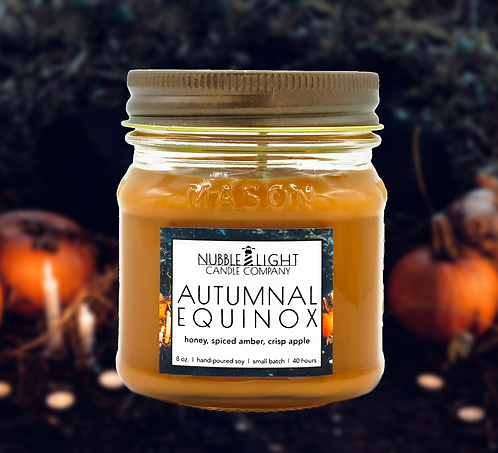 AUTUMNAL EQUINOX 8oz. Scented Soy Candle