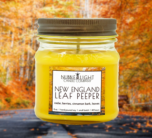 NEW ENGLAND LEAF PEEPER 8oz. Scented Soy Candle