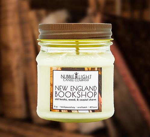 NEW ENGLAND BOOKSHOP 8oz. Scented Soy Candle
