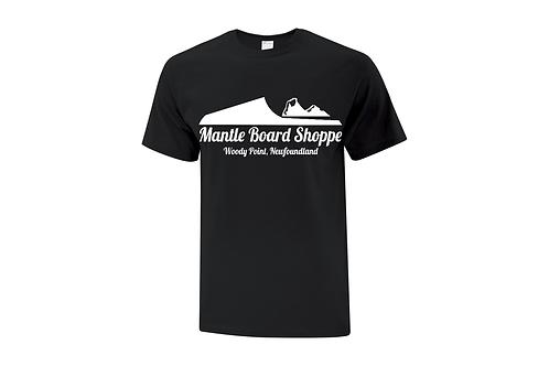 Mantle Board Shoppe logo mens T-shirt