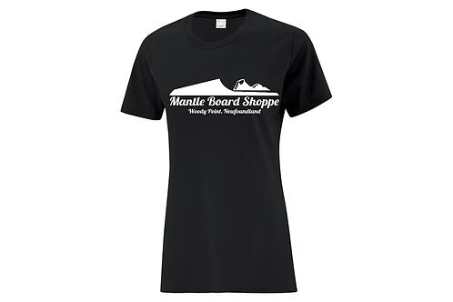 Mantle Board Shoppe logo Ladies T-shirt