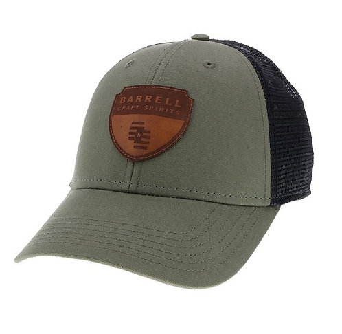 Olive Barrell Craft Spirits Patch Trucker Hat