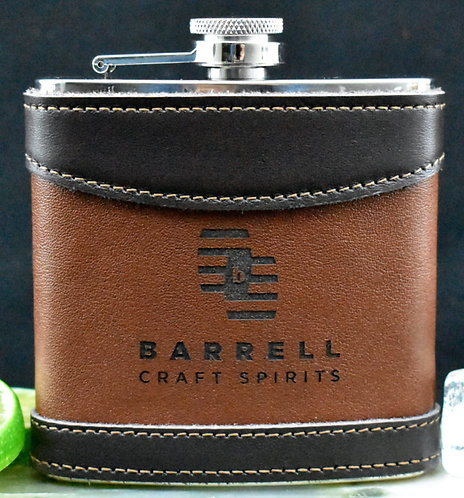 Barrell Craft Spirits 6 oz Leather Flask