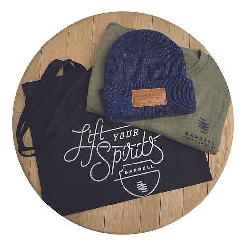 Barrell Shirt, Blue Beanie, and Tote Bag Bundle