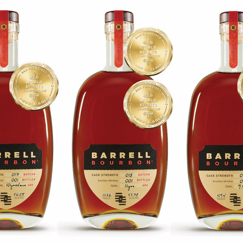 DOUBLE GOLD FOR BARRELL BOURBON