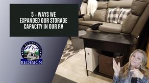 RV Storage: 5 Ways we expanded storage in our RV