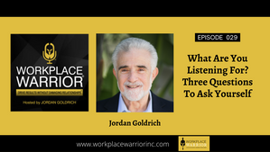 Jordan Goldrich & Doug Sandler: What Are You Listening For?