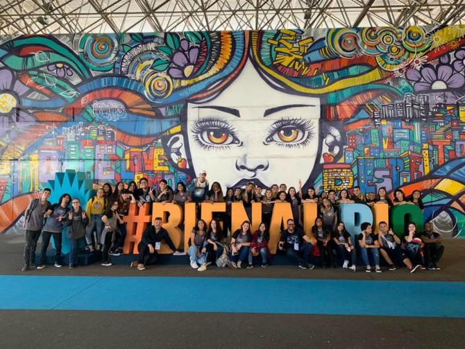O Ensino Médio marcou presença na Bienal 2019