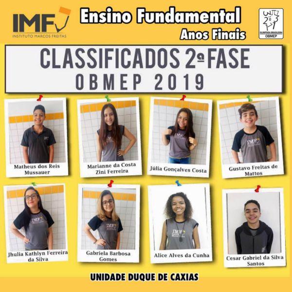 Classificação - OBMEP 2019