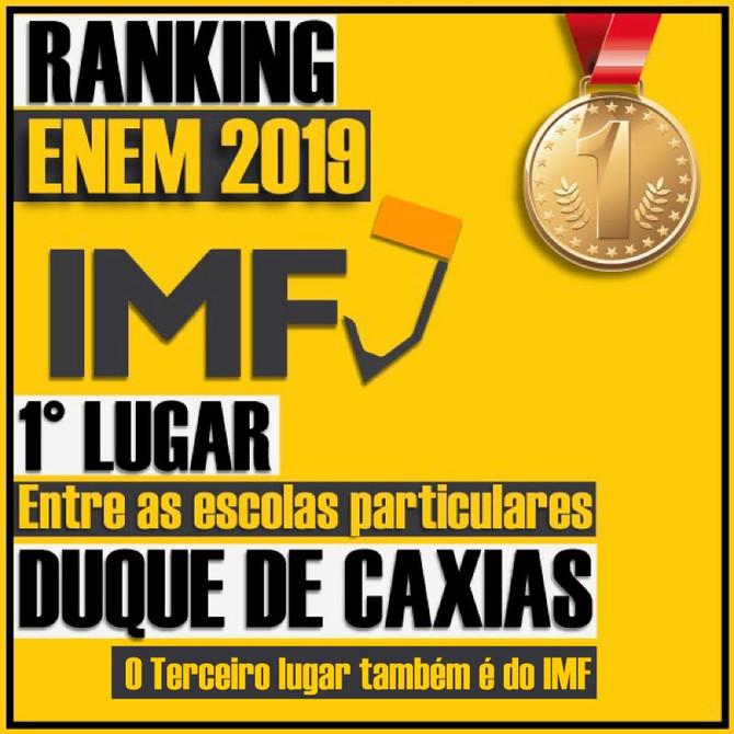 RANKING ENEM 2019 - O 1º LUGAR É NOSSO!