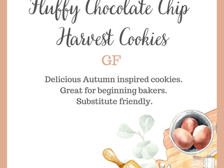 Fluffy Chocolate Chip Harvest Cookies (Gluten-Free)                      -Field Notes Entry 111