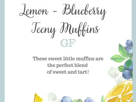 Lemon Blueberry Teeny Muffins (Gluten-Free) - Field Notes 113