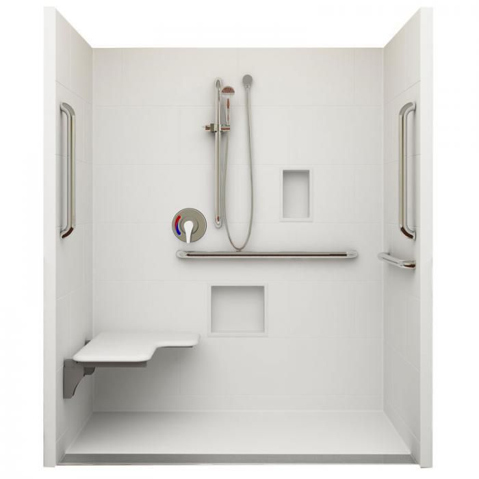 Shower for wheelchair use
