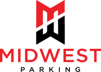 Midwest Parking Logo - full - black & re