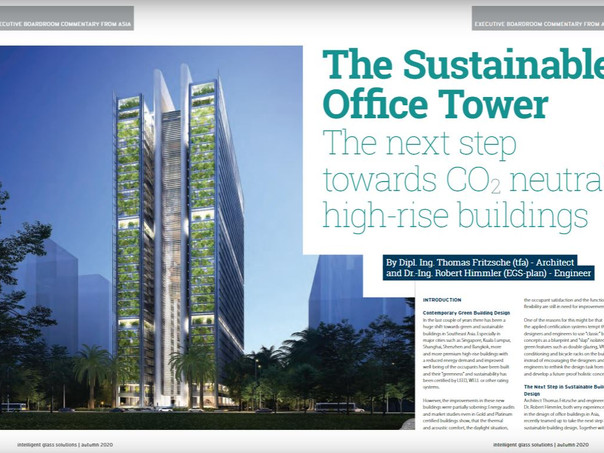 'A Sustainable Office Tower' published in the IGS-Magazine