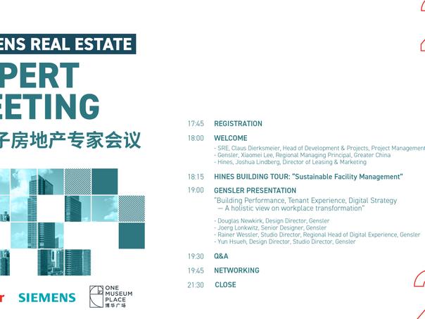 Siemens Real Estate Expert Meeting at Gensler