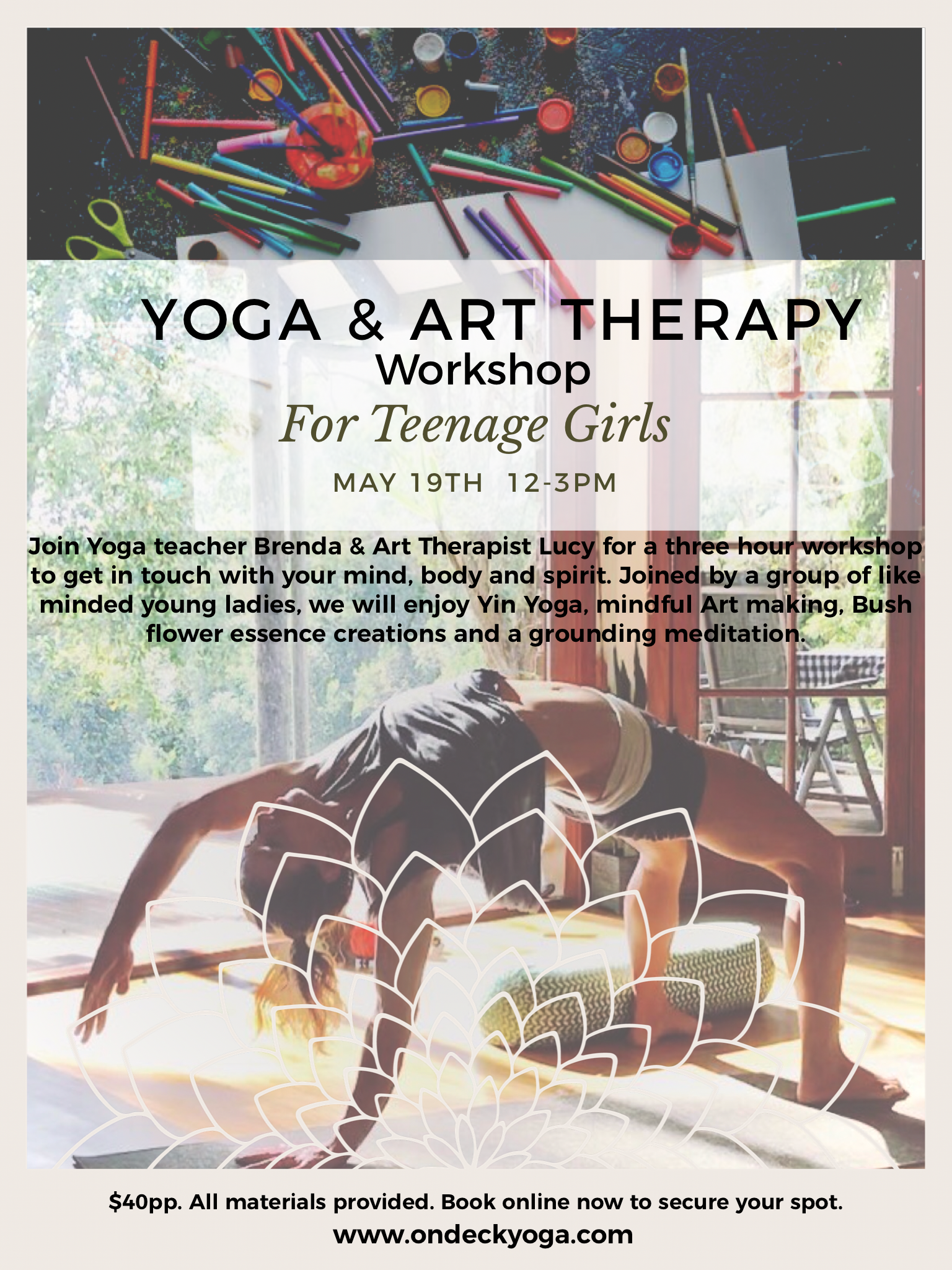 Art Therapy and Yoga for Teens