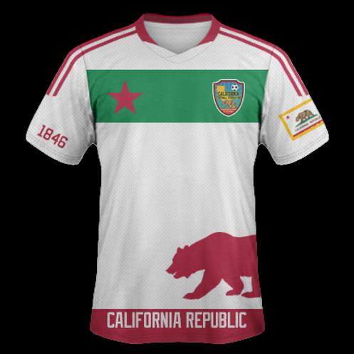 CALIFORNIA NATIONAL FOOTBALL TEAM JERSEY (WHITE)