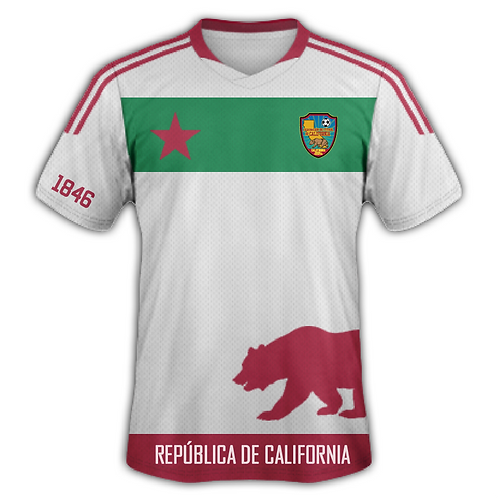 CALIFORNIA NATIONAL FOOTBALL TEAM JERSEY - SPANISH (WHITE)