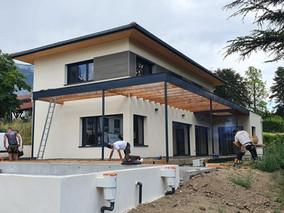 Construction maison Ossature Bois sur la commune de Montbonnot. Projet terminé !