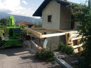 Chantier en cours de réalisation sur le commune de St Ismier ...