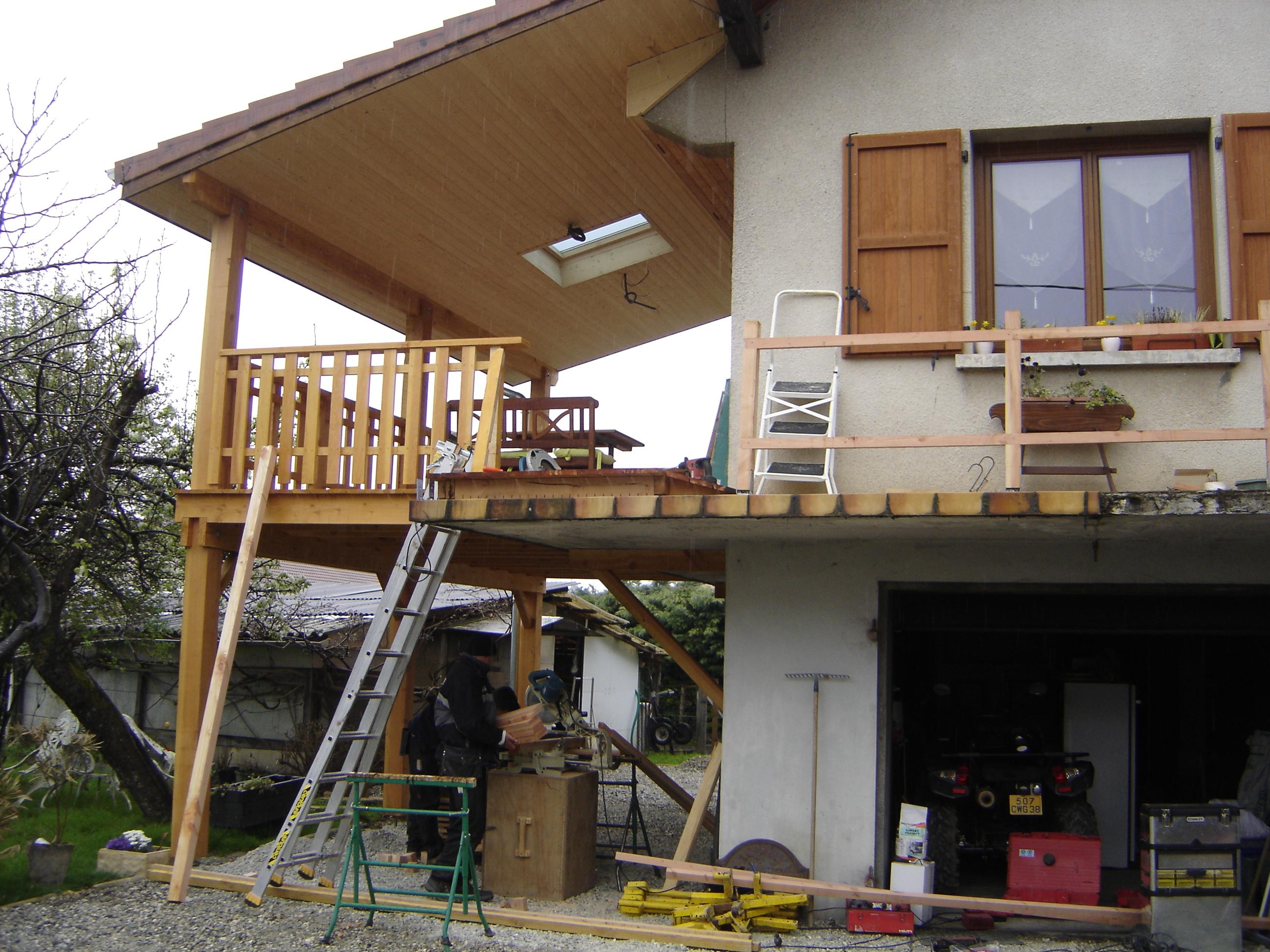 Création d'une terrasse abritée