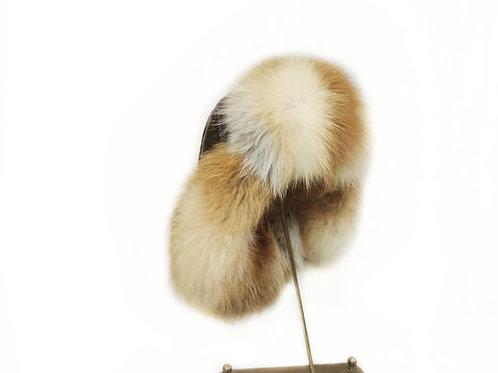 Меховая шапка с мехом лисы
