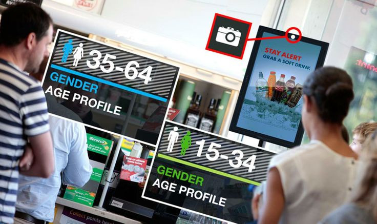 digital signage - customer profiling and targeting