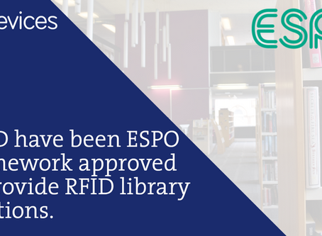 GWD are ESPO Framework Approved to Provide RFID Library Solutions