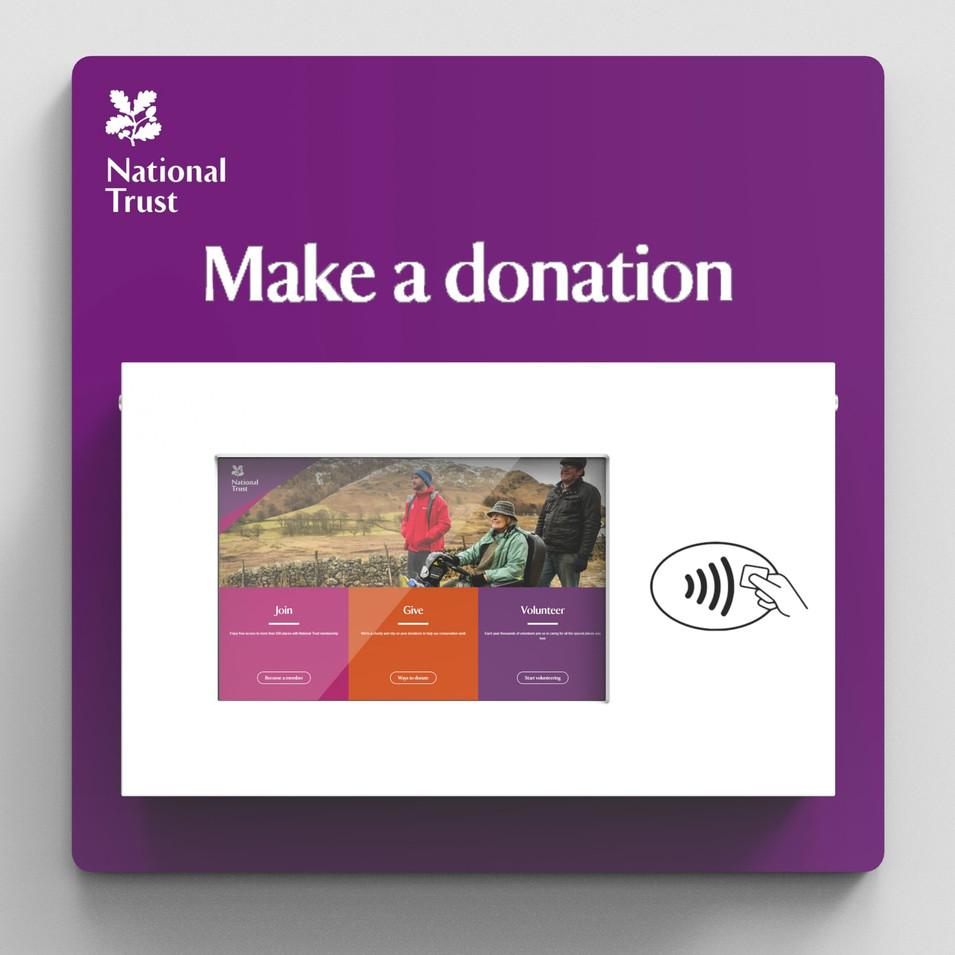 Slim Donation Station - National Trust