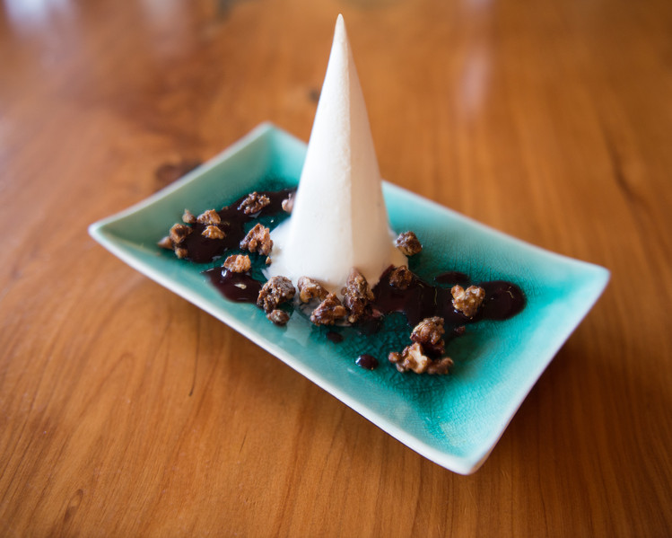 Truffle Ice Cream with toasted nuts