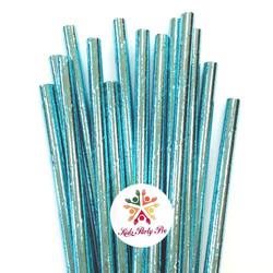 Blue Sparkle Straws