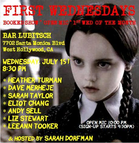 First Wednesdays - Jul 2015