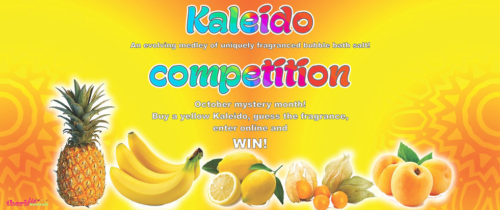 bubble bath salt Kaleido competition banner