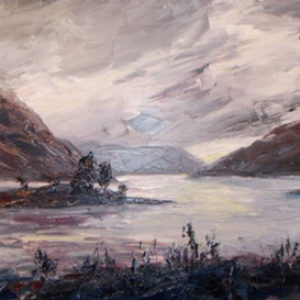 Evening lights, Loch Leven