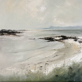 From Traigh beaches between Arisaig and Morar 12 x 12 inches