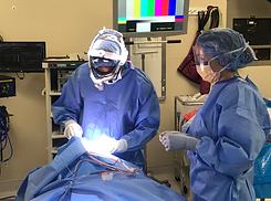 Dr T operating on Eyelids