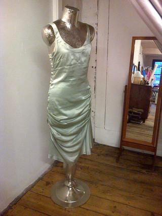 1920's style silk slip dress.