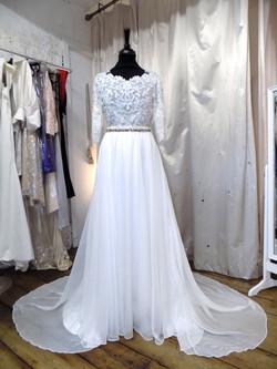 """Helen"" bespoke wedding top"