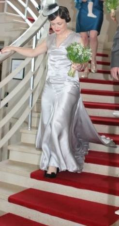 """Clare"". 1930's style silk satin wedding dress."