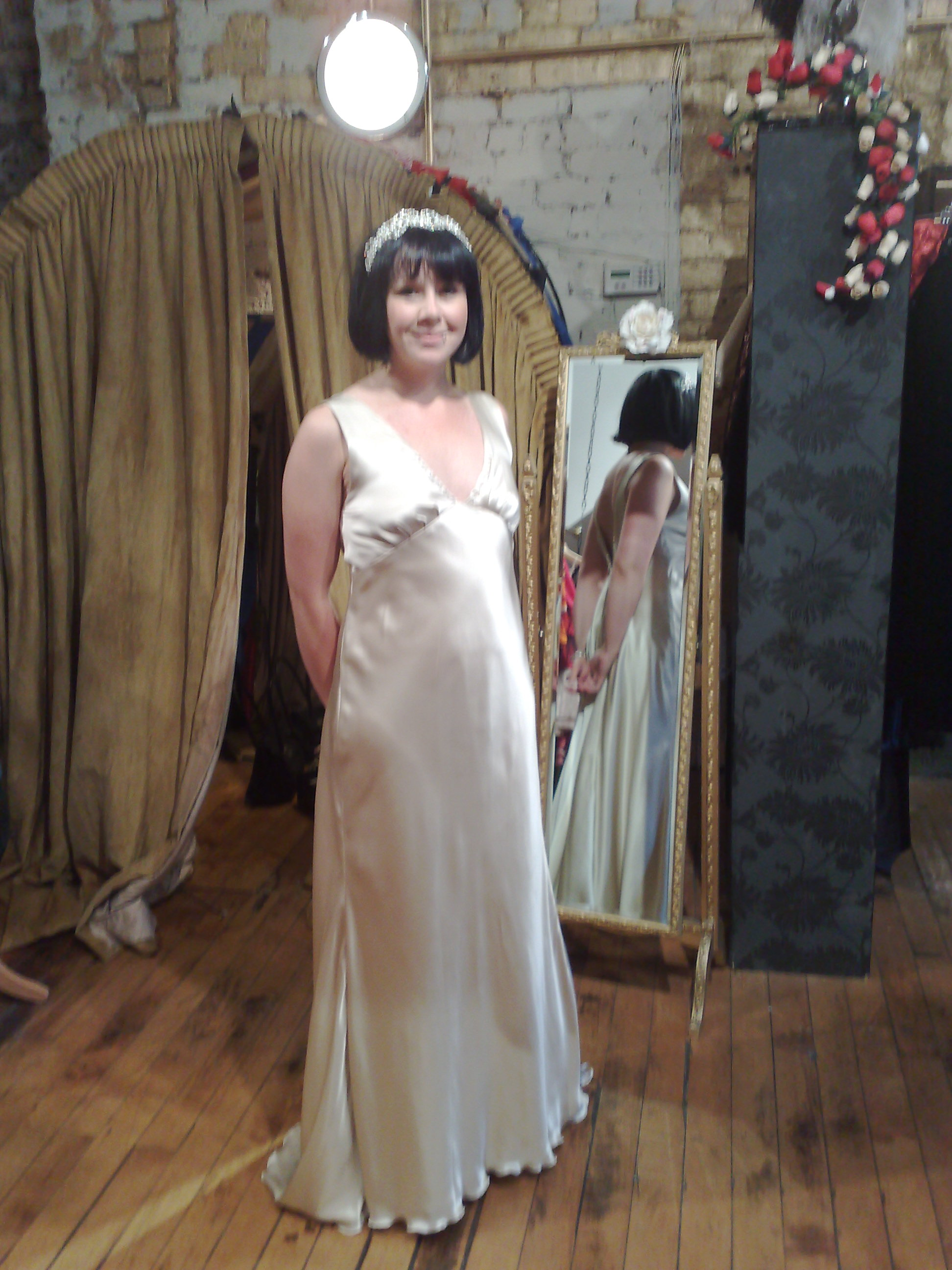 """Emma"" bespoke wedding dress"
