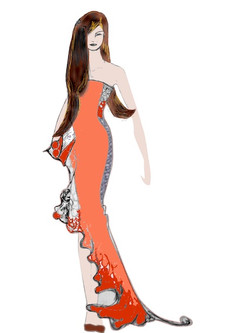 Coral Reef gown