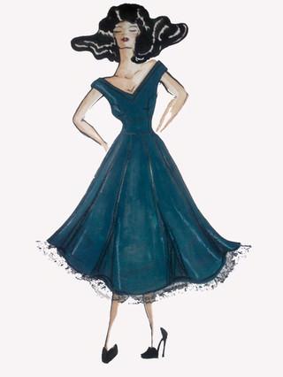 """Rachel Webb"".1950's replica dress"