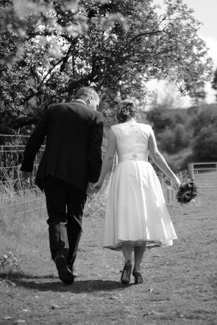 """Catrina"".1950's replica silk wedding dress."