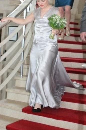 """Clare"", ""Peace"" silk wedding dress"
