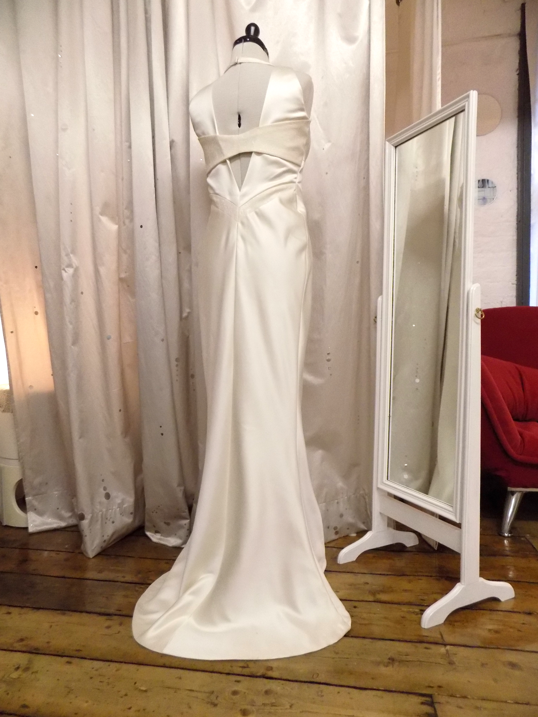 """Leoni"" bespoke satin dress"