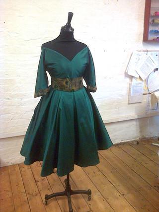 """Ruth"".1950's silk dupion style dress."